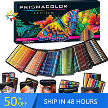 Prismacolor premier 24 36 72 150 lapis de cor lápis de cor caixa sanford mão desenho esboço lápis arte escola fornecimento lata caixa