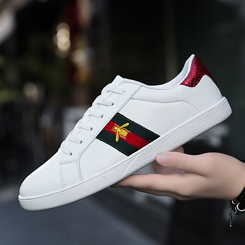 Men & Women Unisex Low-top Sneakers PU Leather Casual Leisure Skateboard Shoes Lace-up Running Sports Tennis Walking Shoes