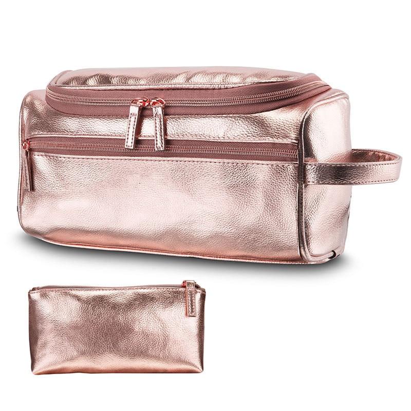 Купить с кэшбэком 2020 New Waterproof Washing Bag Cosmetic Bag Hook Bath Bag Multifunctional Bathroom Storage Bags Pu Leather