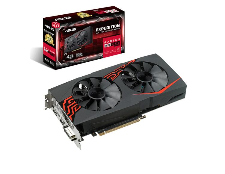 ASUS EX-RX580 2048SP-4G 1284-1294MHz 4G/256bit GDDR5 DX12 Apex Hero 4G Indie Game Graphics