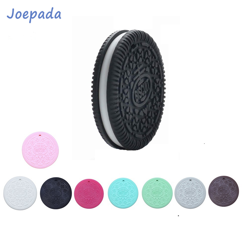 Joepada 10Pcs/lot Biscuits Silicone Beads Cookie Baby Teether For DIY Baby Teething Pacifier Chain Accessories Food Grade Beads