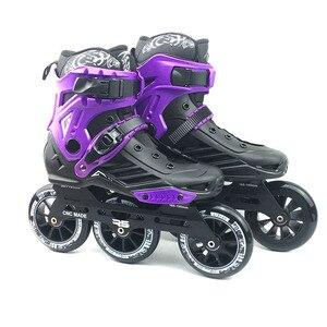Image 3 - JK RS6 prędkości łyżworolki łyżwy profesjonalne buty do jazdy na rolkach dla dorosłych 3 lub 4*110mm koła Patines FSK Rollerblade SH55