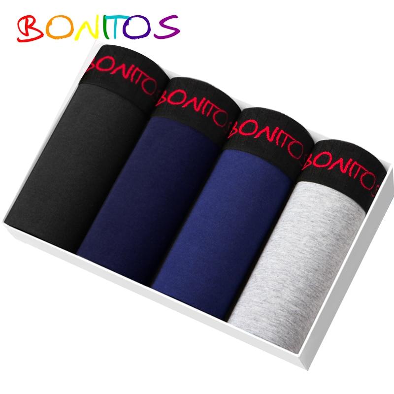 Bonitos marca underwear masculino 4 unidades/pacote boxers de algodão cueca 365 chevaliere cueca masculina shorts underware calcinha longa