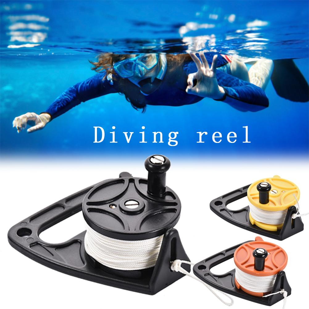 Diving Reel With Thumb Stopper And High Visibility White Line For Diving Spear Fishing 46M