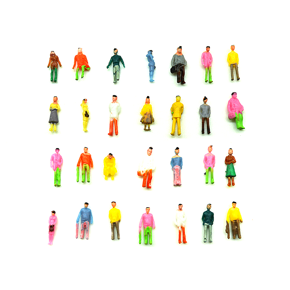 100pcs 1/150 Scale Building Model People Figures Painted Toys For Diorama Miniature Architecture Model Making 200pcs Mannequin