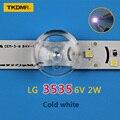 TKDMR 50 шт. LG Innotek светодиодная подсветка 2 Вт 6 в 3535 крутая белая ЖК-подсветка для ТВ приложения Бесплатная доставка
