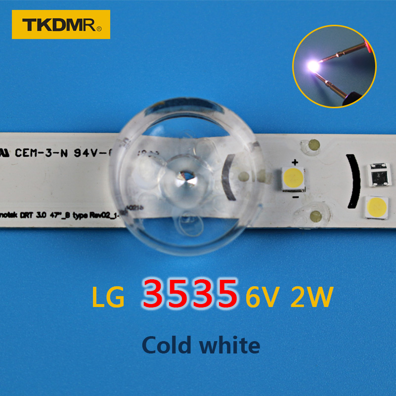 TKDMR 50pcs LG Innotek LED LED Backlight 2W 6V 3535 Cool White LCD Backlight For TV TV Application Free Shipping