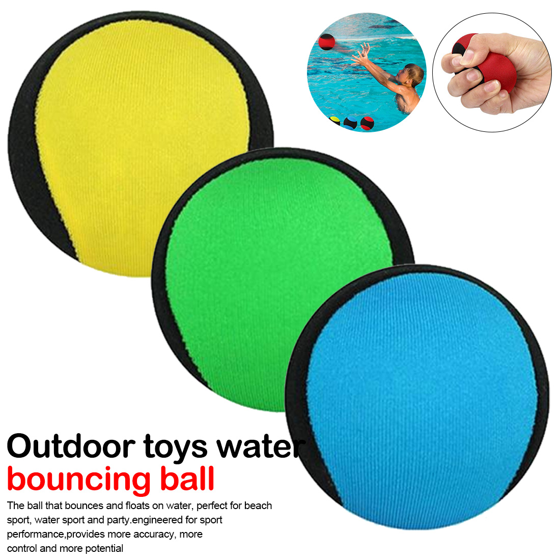 Bounce Ball Outdoor Toys Water Bouncing Ball Pool Play Beach Ball Skips On Water Game Sports Toy For Swimming Pool