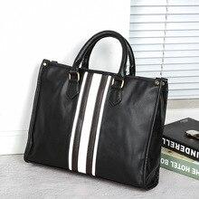 New Korean mens handbags British business retro casual shoulder briefcase