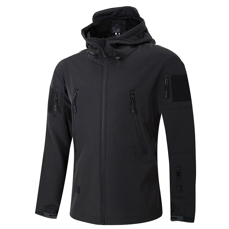 Tactical Raincoat Jacket Shark Skin Soft Cover MEN'S Assault Jacket Outdoor Three-in-One Army Fans Tactical Fleece
