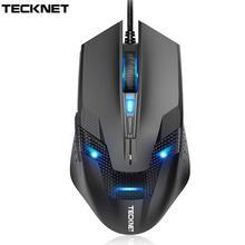 TeckNet przewodowa mysz do gier ergonomiczne myszy 6 przycisk optyczny mysz komputerowa 2000dpi USB przewodowy komputer mysz do komputera Laptop PC