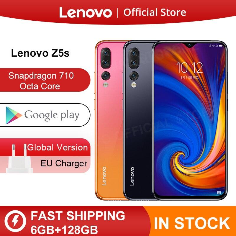 Original Global Version Lenovo Z5s Snapdragon 710 Octa Core 6GB 128GB Mobile Phone 6.3inch AI Triple Rear Camera Android P