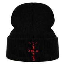 jack cactus Beanie Travis Scott Cotton Embroidery Winter Hat Knitted Hat
