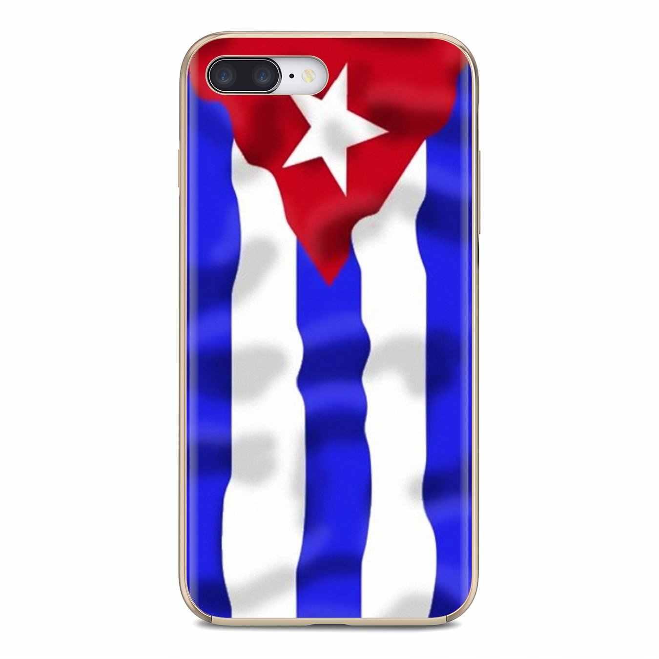 كوبا كوبا العلم يطير خط راية سيليكون الهاتف يغطي لسامسونج غالاكسي A10 A30 A40 A50 A60 A70 S6 نشط نوت 10 زائد حافة M30