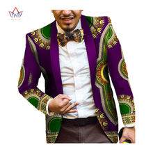Мужская африканская одежда Принт блейзер куртки с длинным рукавом