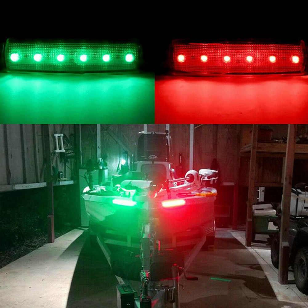 4Pc czerwona zielona nawigacja łodzią światła LED rufowe światła łodzi lampa światła Starboard