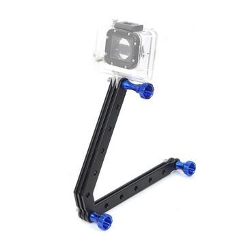 Brazo y tornillos de extensión de aleación de aluminio mecanizado CNC para cámara de acción Gopro HD Hero3 Hero 3