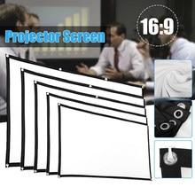 60 72 84 100 120 150 polegadas projetor tela simples cortina de casa ao ar livre ktv escritório portátil 3d hd projetor tela