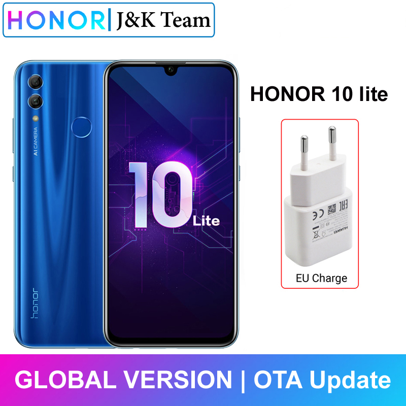 Honor 10 Lite Global Version MobilePhone 6.2 Inch 3400mAh Android 9 24MP Camera Smartphone With Google Play OTA Update