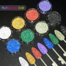 1Box Reflective Nail Glitter Powder Shiny Dust Glow In The Dark For Bar Disco Sparkling Pigment Fluorescent Nail Art Decorations