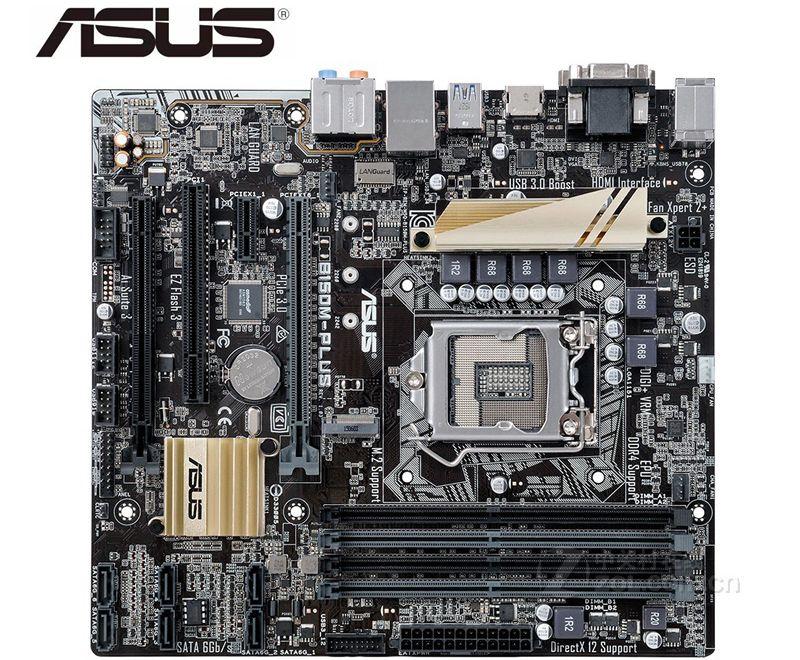 ASUS B150M-PLUS Motherboard  LGA1151  USB3.0 PCI-E3.0 SATA3.0 For ASUS B150M-PLUS Used Desktop For Intel B150 DDR4 Mainboard