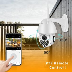 Image 3 - 1080P Siren Light Wifi PTZ Camera 2MP Auto Tracking Cloud Home Security IP Camera 4X Digital Zoom Speed Dome Camera Outdoor