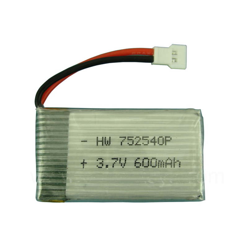 3.7V 600mAH Remote Quadrocopter Lipo Battery For Syma X5C Lipo Battery 3.7V 600mAH XH Plug 752540 1S Lipo Battery 1pcs/lot