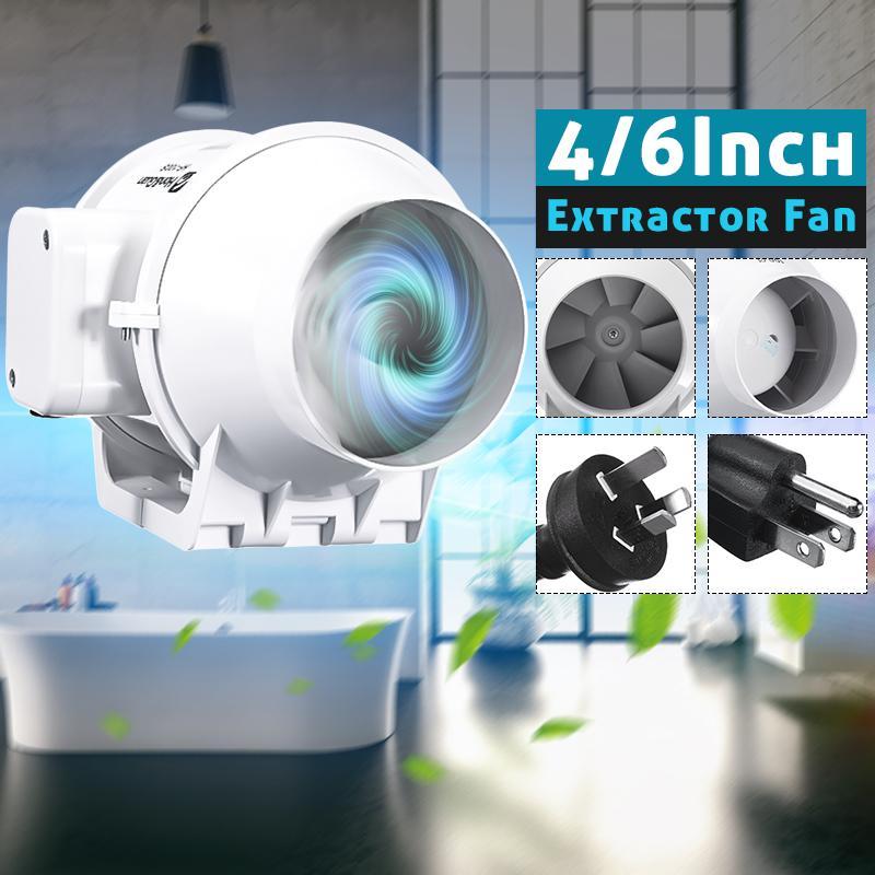 AU 4 6 8 вентиляционная Встроенная вентиляционная трубка воздуховод вентилятор воздуходувка двойной регулятор скорости выхлопная труба ве