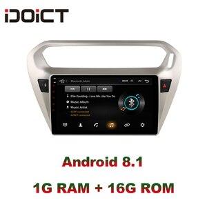 Image 1 - IDOICT אנדרואיד 8.1 רכב נגן DVD GPS ניווט מולטימדיה עבור פיג ו 301 סיטרואן האליזה רדיו 2013 2016 DSP