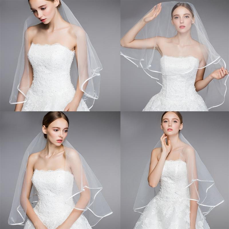 Two Layers Wedding Bridal Veil White Long Lovely Bridal Veils Head Veil For Bride Marriage Wedding Accessories