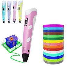 Stylo d'impression 3D Graffiti dessin peinture stylos température réglable avec câble USB PLA Filament jouet éducatif pour enfants bricolage