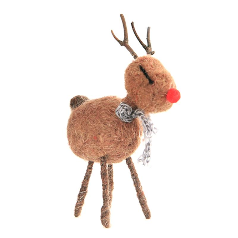 1pc Deer Desktop Attractive Cloth Creative Deer Decoration Handcraft Craft Ornament For Store Home Office image