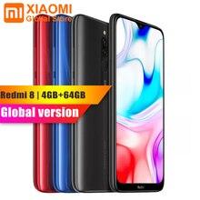"""Оригинал, новая глобальная версия, Xiaomi Redmi 8, 4 Гб ОЗУ, 64 Гб ПЗУ, 6,21 """"мобильный телефон, Восьмиядерный процессор Snapdragon 439, 12 МП, двойная камера, 5000 мАч"""