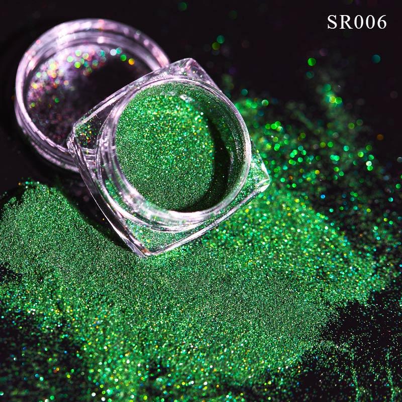 Волшебное зеркало блеск для ногтей Dip порошок Сияющий хром пигмент пыль голографическое искусство ногтей Маникюр УФ пудра для ногтей гель лак - Цвет: VQ01707