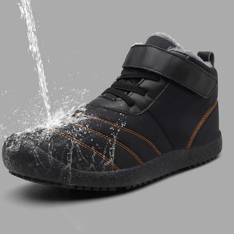 REETENE Mannen Winter Schoenen Enkel Snowboots Mannen Winter Laarzen Voor Mannen Sneakers Lovers 'Waterdichte Laarzen Paar Fur Flock Schoenen