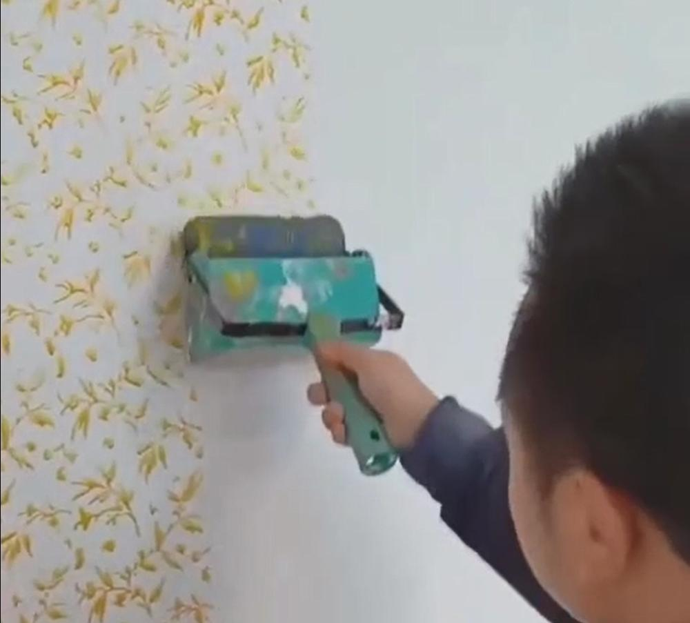Paint WallPaper Roller Printing Machine Grain Printing Roller Wall Pattern Tool Soft Rubber Head