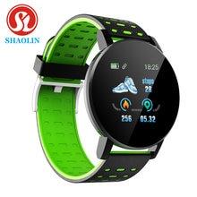 Shaolin bluetooth relógio inteligente de pressão arterial smartwatch relógios banda inteligente esporte rastreador masculino smartband
