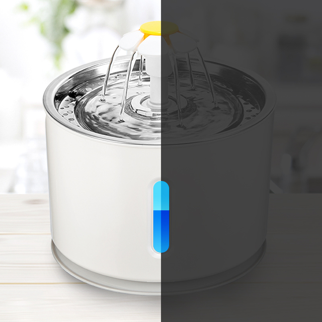 Pet Dog Cat Water Fountain Electric Automatic Water Feeder Dispenser Container LED Water Level Display For Dogs Cats Drink 5