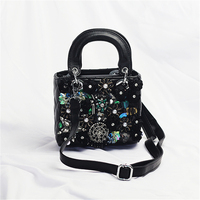 Women Crystal Totes Luxury Women Shoulder Messenger Bags Punk Handbag Bridal Floral Wedding Rhinestone Purse Evening Party Bags