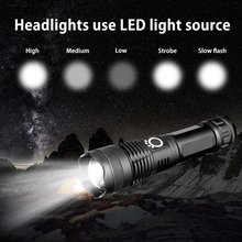 Aluminum Alloy Made Of Durable Led Outdoor Lighting USB Charging Aluminum Light Flashlight Telescopic Focusing Flashlight