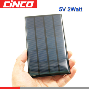 Solar Cells 5 V 2 Watts poly Li-ion Battery charger Power Bank voltage LED lamp Solar Panel 5 VDC
