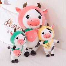 2020 плюшевая игрушка в виде коровы с фруктами милое Мягкое