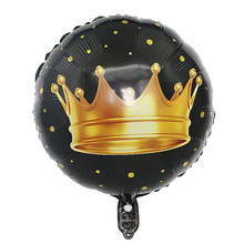 Manufacturers selling 18-inch balloon crown aluminum film baby birthday party decor foil balloons