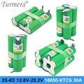 Турмера 3S 12,6 V 4S 16,8 V 5S 21V 6S 25V VTC6 аккумулятор US18650VTC6 3000mah аккумулятор 30A для 18V отвертка батарея Настройка