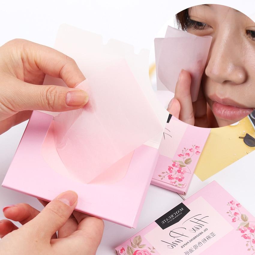 100pcs/pack Plant Fibres Linen Pulp Makeup Cleansing Oil Absorbing Face Paper Absorb Blotting Facial Cleanser Face Tool