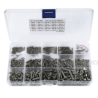 480Pcs/Set M2 M2.5 M3 Din7985 Gb818 Steel Cross Recessed Pan Head Screws Phillips Screws Assortment Kit Hw028|Nut & Bolt Sets| |  -