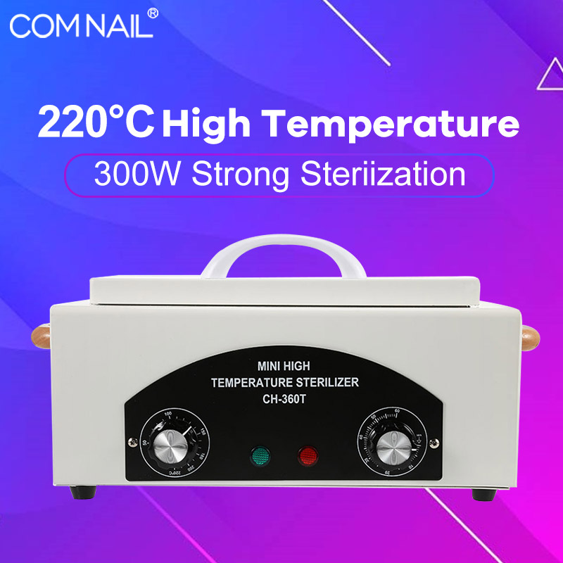 300W High Temperature Sterilizer Nail Art Tools Disinfection Cabinet Sterilizer Machine For Manicure Set US/EU Plug 110V/220V