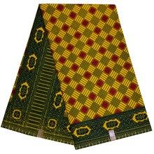 Анкара африканская решетка печатает воск ткань хлопок высокое качество настоящий голландский воск ткань