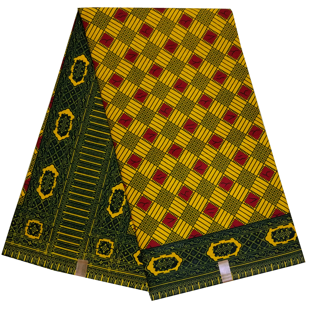 Ankara African Lattice Prints Wax Fabric 100% Cotton High Quality Real Wax Fabric