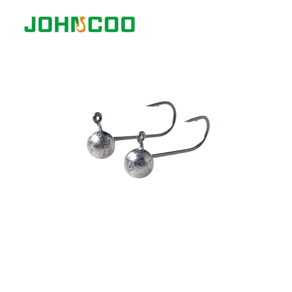 JOHNCOO 10 Uds anzuelo con cabeza plomada Rockfish anzuelo 1g 1,5g 2g 3g 5g anzuelo de pesca gusano suave gancho de cabeza de plomo